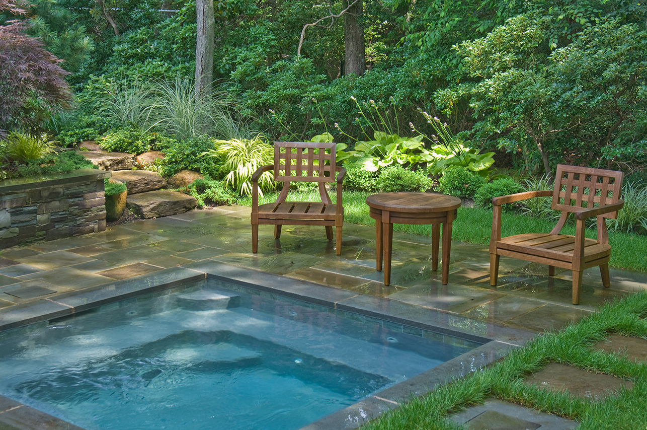 Woodland spa for Garden design poole